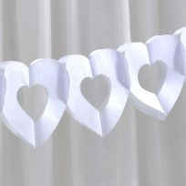 White Tissue Paper Heart Garland
